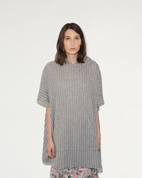Julien David Stripe Hooded Poncho