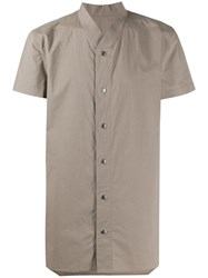 Rick Owens Short Sleeve Fitted Shirt Green