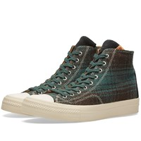 Visvim Skagway Hi Buffalo Check Green