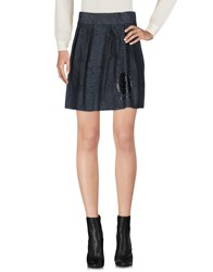 Happiness Mini Skirts Slate Blue