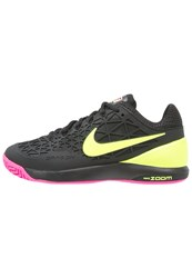Nike Performance Zoom Cage 2 Outdoor Tennis Shoes Black Volt Pink Blast