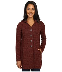 Kuhl Isla Long Coat Red Spice Women's Coat Brown