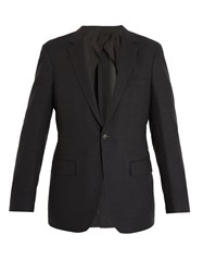 Kilgour Single Breasted Wool Blend Blazer Charcoal