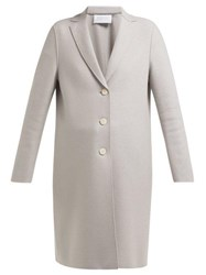 Harris Wharf London Single Breasted Pressed Wool Coat Light Grey