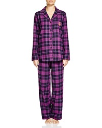 Lauren Ralph Lauren Madison Avenue Brushed Twill Pajama Set Purple Plaid