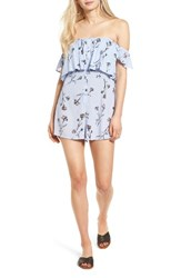 Lush Women's Off The Shoulder Romper