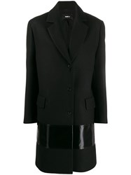 Yang Li Contrast Panel Single Breasted Coat 60