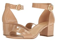 Michael Michael Kors Lena Mid Toffee Patent Women's Shoes Brown