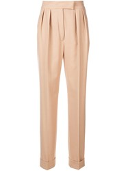 Agnona High Waist Trousers Nude And Neutrals
