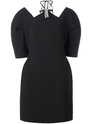 Marni Crystal Bow Applique Dress Black