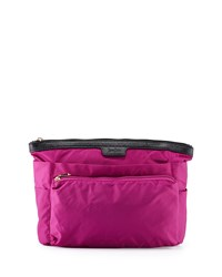 Neiman Marcus Extra Large Nylon Travel Cosmetic Bag Berry Pink