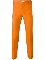 Paul Smith Skinny Trousers Men Wool 30 Yellow Orange