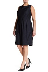 Sandra Darren Sleeveless Denim Dress Plus Size Blue
