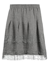 Cream Salta Pleated Skirt Ash Grey
