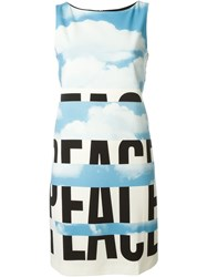 Moschino Vintage Cloud Print Dress Blue