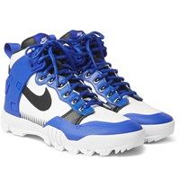 Nike Undercover Sfb Jungle Dunk Rubber Trimmed Leather High Top Sneakers Royal Blue