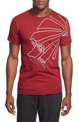 Casual Industrees 'Washington Outline' Graphic T Shirt Cranberry