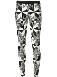 Fausto Puglisi Abstract Print Leggings