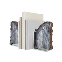 Anna New York Fim Bookends Natural Agate