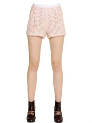 See By Chloe Cotton Lace And Crepe Shorts
