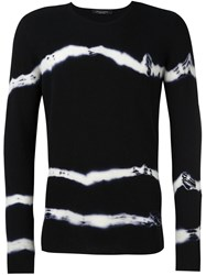 Roberto Collina Tie Dye Sweater Black