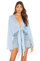 Young Fabulous And Broke Free Fall Top Baby Blue