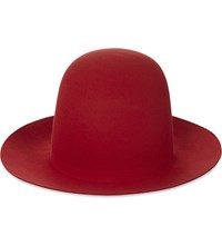 Gucci William Wide Brim Rabbit Felt Hat Red