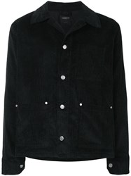 Tom Wood Corduroy Shirt Jacket Black