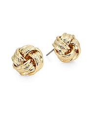 Cara Sailor Knot Stud Earrings Goldtone