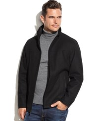 Perry Ellis Portfolio Big And Tall Wool Blend Faux Leather Trim Jacket