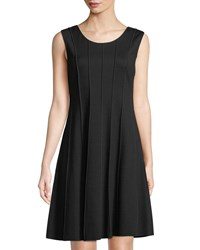 Grayse Marrow Piped Fit And Flare Dress Black White