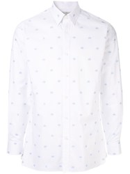 Gieves And Hawkes All Over Logo Print Shirt White