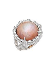 Michael Aram Crystal Quartz Sterling Silver Faceted Ring No Color