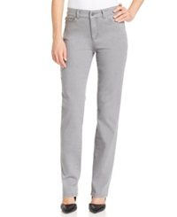 Charter Club Petite Embellished Pocket Straight Leg Jeans Gray Wash Only At Macy's