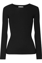 Michael Kors Collection Ribbed Cashmere Sweater Black