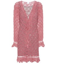 Anna Kosturova Summer Cotton Dress Pink