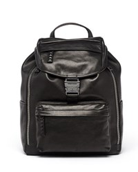 Mcm Killian Men's Medium Leather Logo Backpack Black