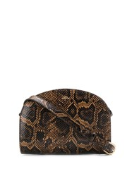 A.P.C. Snakeskin Effect Bag Brown