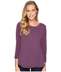 Woolrich First Forks 3 4 Sleeve Shirt Wisteria Women's Long Sleeve Pullover Purple