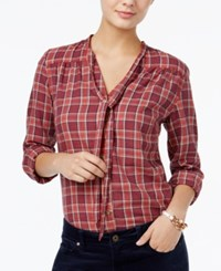 Tommy Hilfiger Plaid Bow Tie Shirt Only At Macy's Multi