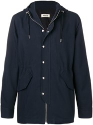 Zadig And Voltaire Boggio Smart Parka Coat Blue