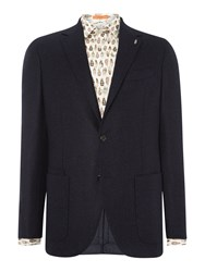 Simon Carter Fleck Hopsack Jacket Blue