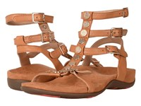 Vionic Sonora Caramel Leather Women's Dress Sandals Tan