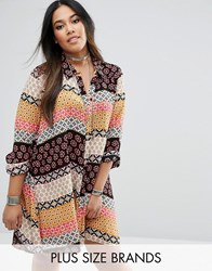 Alice And You Printed Swing Shirt Dress Multi