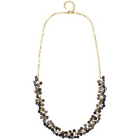 Adele Marie Yellow Gold Purple Grey Beaded Rope Necklace Gold
