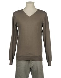 Scout Knitwear V Necks Men Grey