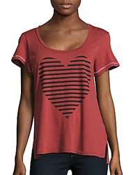 Sundry Printed Short Sleeve Tee Pomegranate