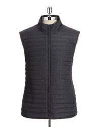 Black Brown Houndstooth Vest Blue