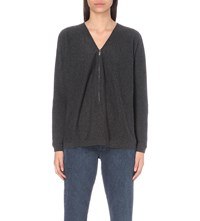 The Kooples Knitted Cashmere Jumper Grey