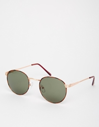 A. J. Morgan Aj Morgan Round Sunglasses Gold